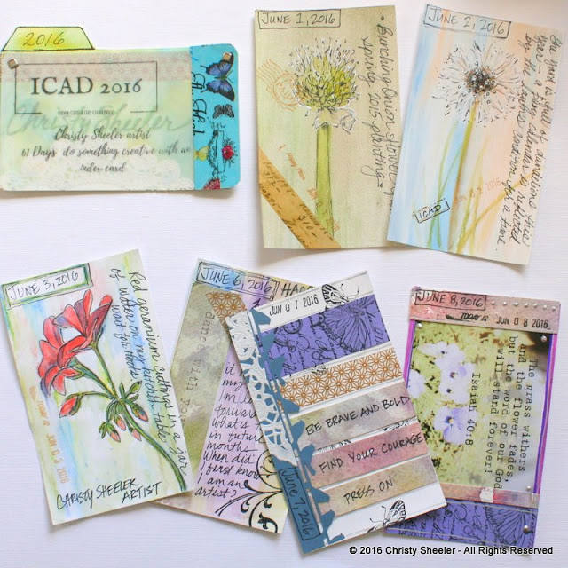 ICAD 2016:  Cards 1 - 6 by Christy Sheeler