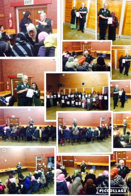 Montage of pictures from our latest first aid course