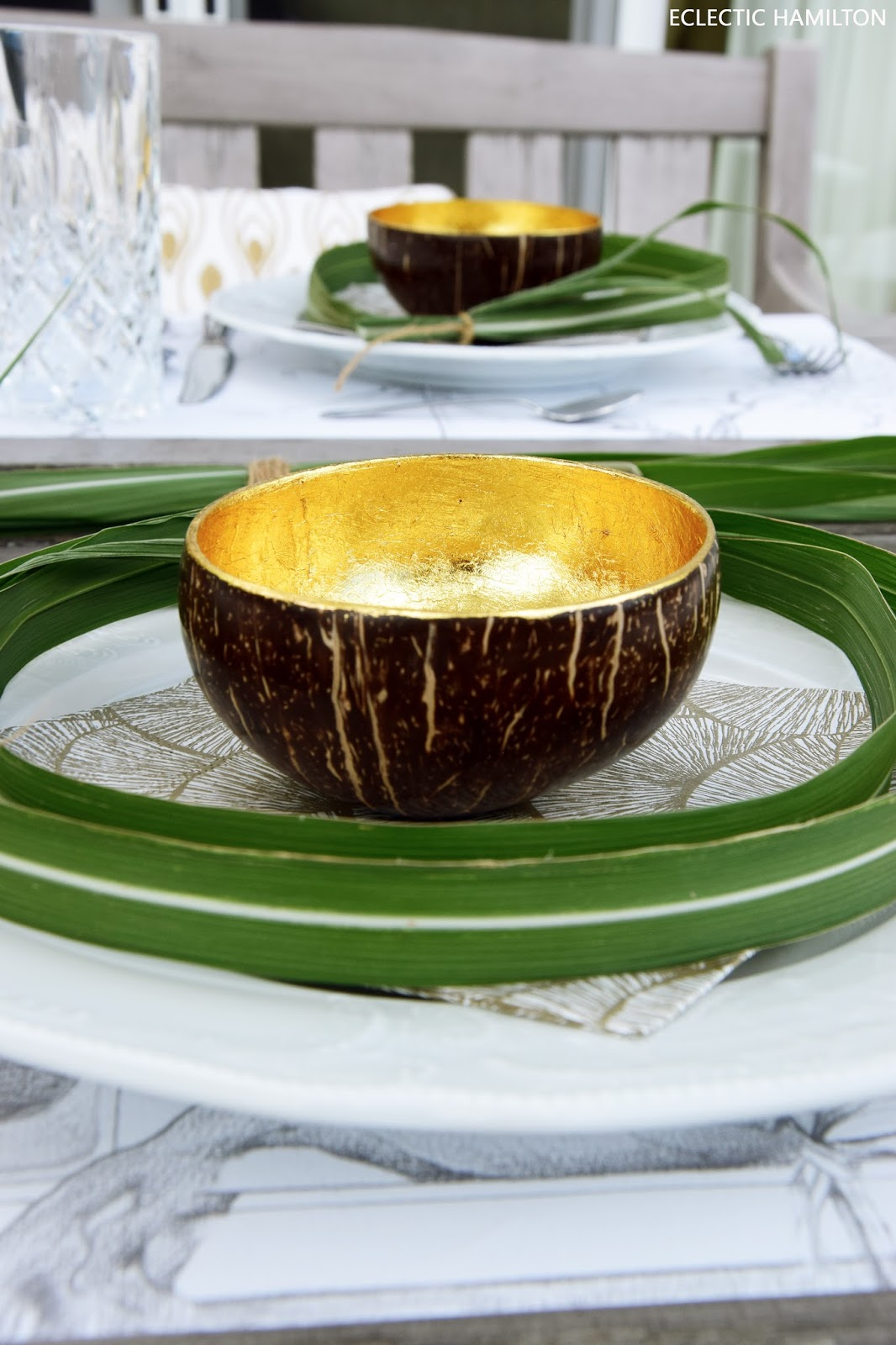 Tischdeko mit Schilf Schilfgras dekoration tisch sommer deko sommerlich