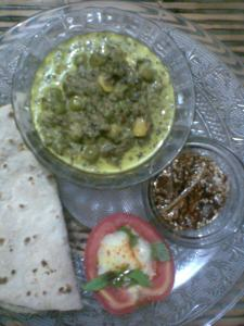 a balanced three course meal..truly desivideshi