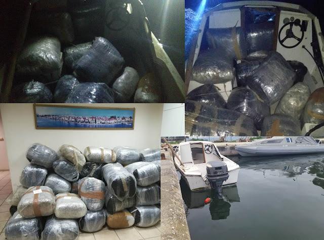 Ηγουμενίτσα: 7 σκάφη του λιμενικού συμμετείχαν στην επιχείρηση για τα 424 κιλά κάνναβης (+ΦΩΤΟ)
