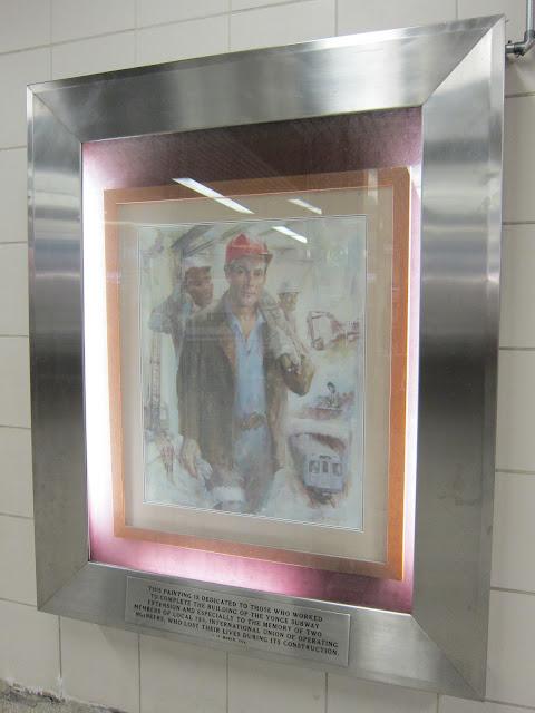 Edwin McCormick painting at Sheppard-Yonge.