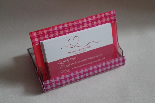 Rosa Rote Welt Basteln Visitenkartenhalter