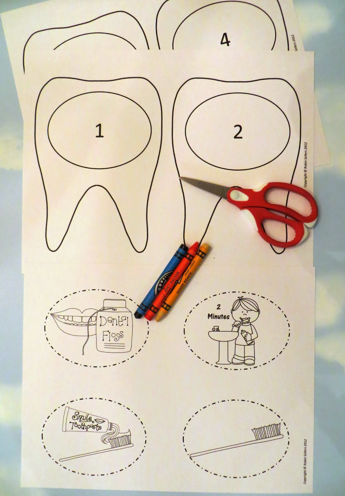 Sweet Tea Classroom Dental Health Craft A 3d Tooth Brushing Craftivity By Robin Sellers