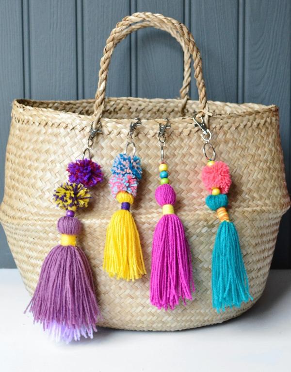 C mo decorar una cesta de mimbre somosdeco blog de decoraci n - Como forrar cestas de mimbre ...