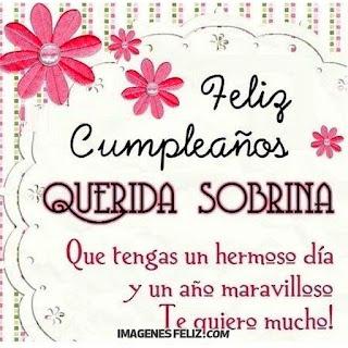 Feliz Cumpleaños Querida Sobrina. Que tengas un año maravilloso