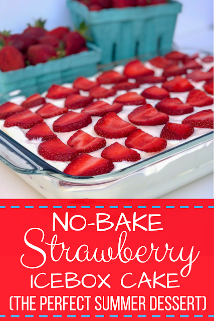 Looking for the perfect summer dessert? This easy no-bake strawberry cream cheese icebox cake is exactly the recipe you are looking for! Cool whip, graham crackers, strawberries and cream cheese make for light, fluffy and sweet dream cake