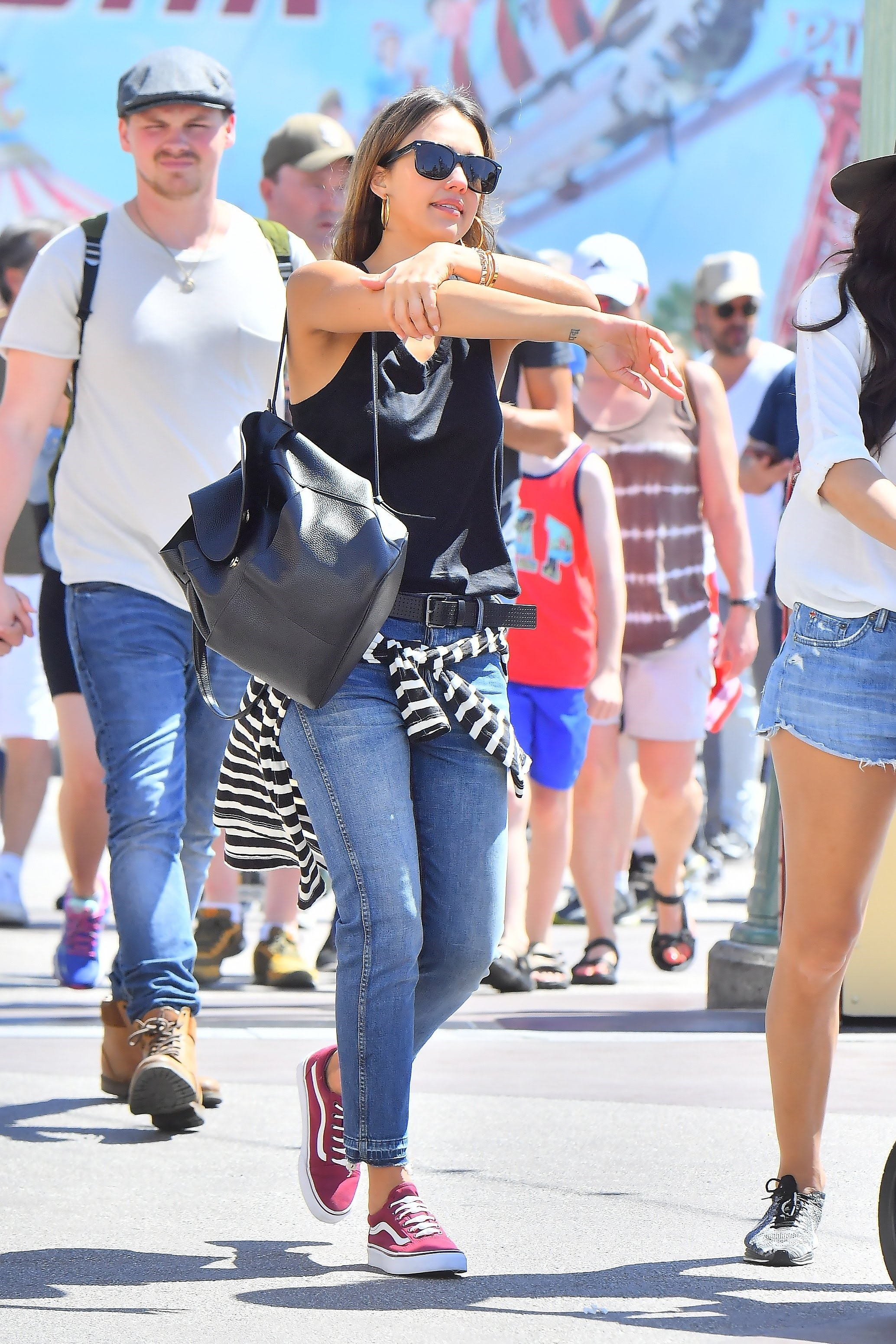 Jessica Alba and her family at disneyland holiday