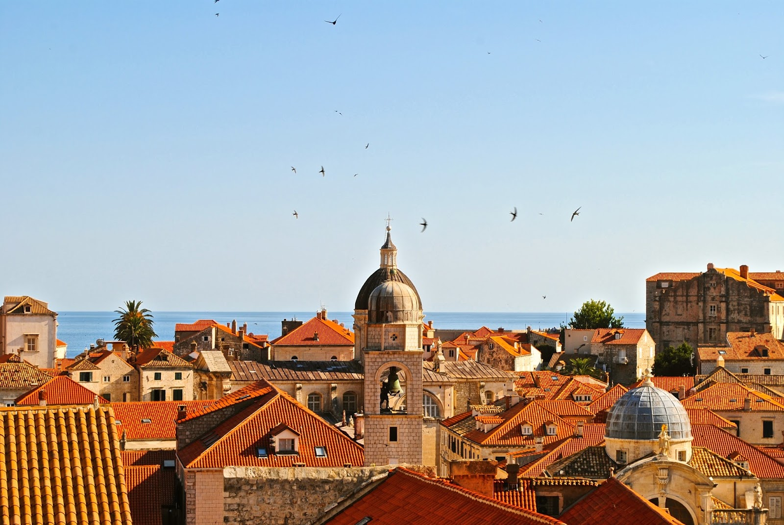 View from the Old Town Walls of Dubrovnik