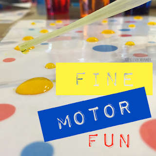 Fine Motor Fun - Water Dots Printable | you clever monkey