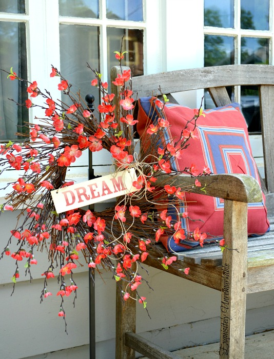 Summer Wreath With Wooden Sign