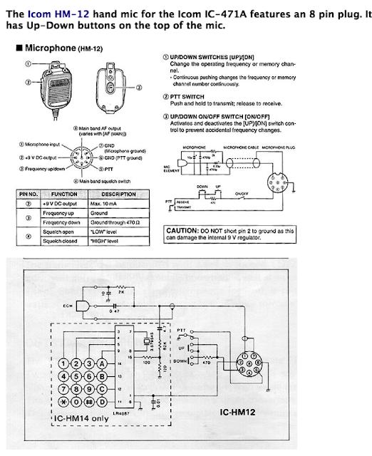 OH2DD, ICOM HM-12 microphone schema