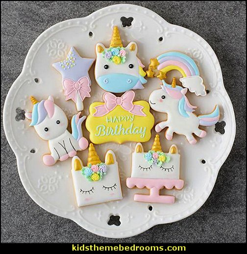 unicorn cookie cutters  unicorn party supplies - rainbow unicorn party decorations - unicorn birthday party - Unicorn Themed Party -  Unicorn Balloons  -  unicorrn cupcakes - rainbow decorations - Unicorn  Garlands - sequin tablecloth - tutu table skirt -
