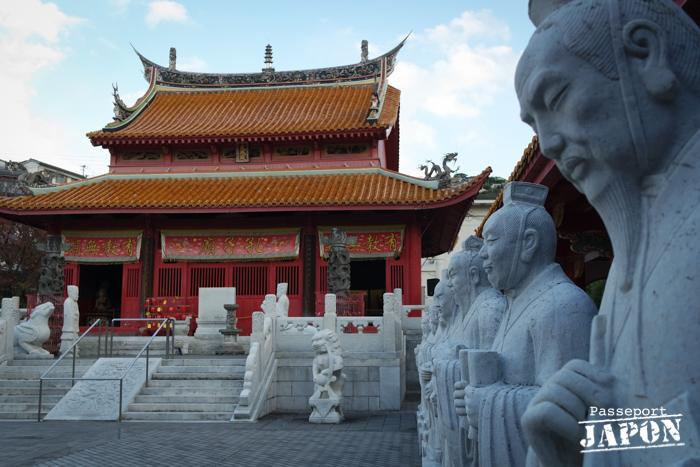 Statues des disciples de Confucius, temple Kôshi-byô, Nagasaki