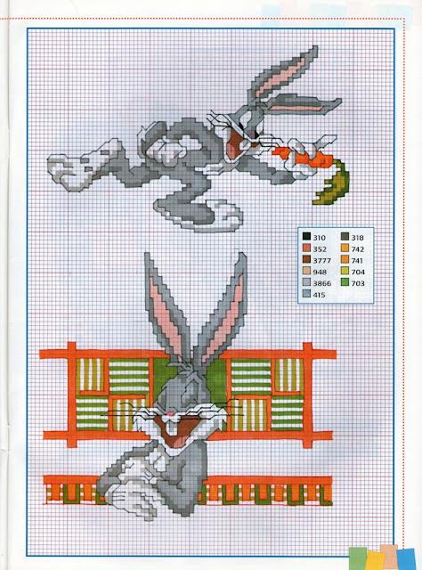 Bugs Bunny  punto de cruz,