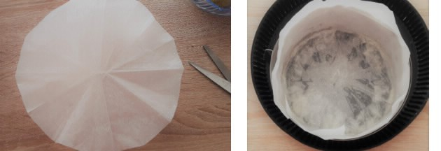 tutoriel fond moule à gateau chemiser papier sulfurisé en photo simple