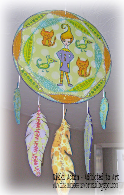 Altered MDF Dreamcatcher with PaperArtsy Fresco Acrylics