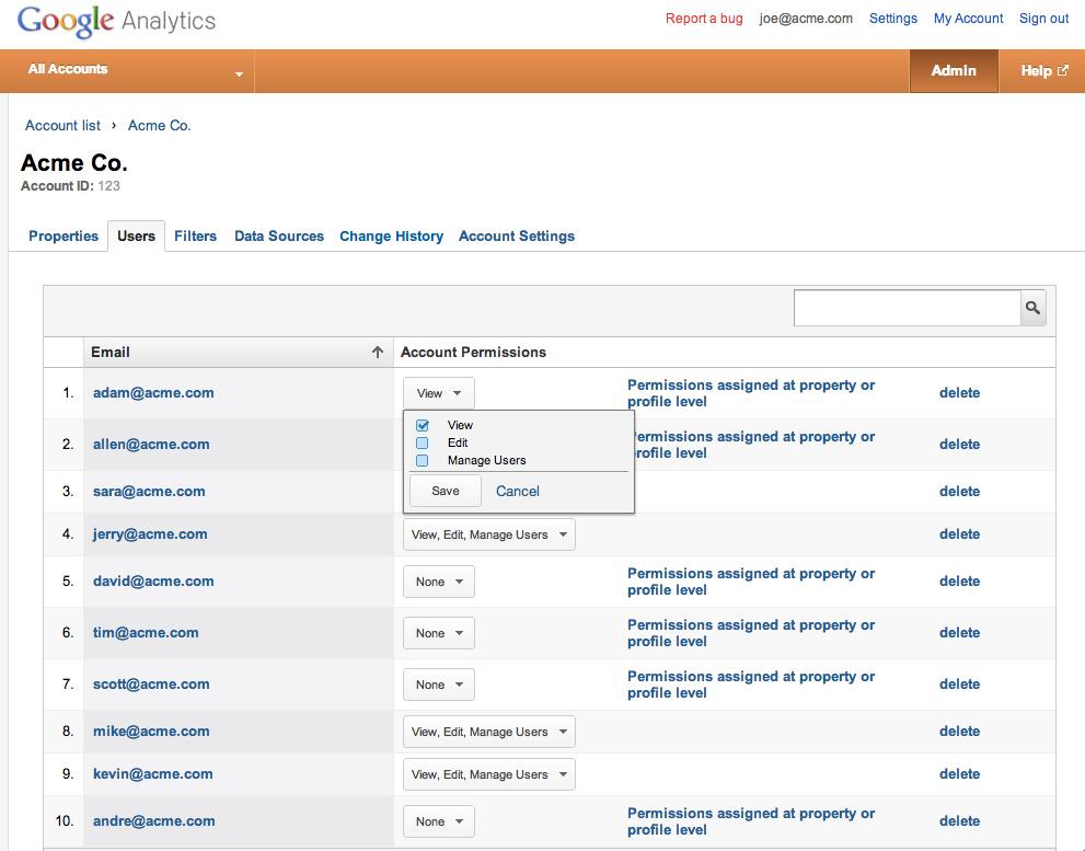 Új felhasználókezelés az Analyticsben