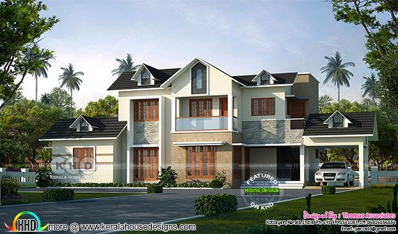 1750 sq-ft modern style sloping roof home
