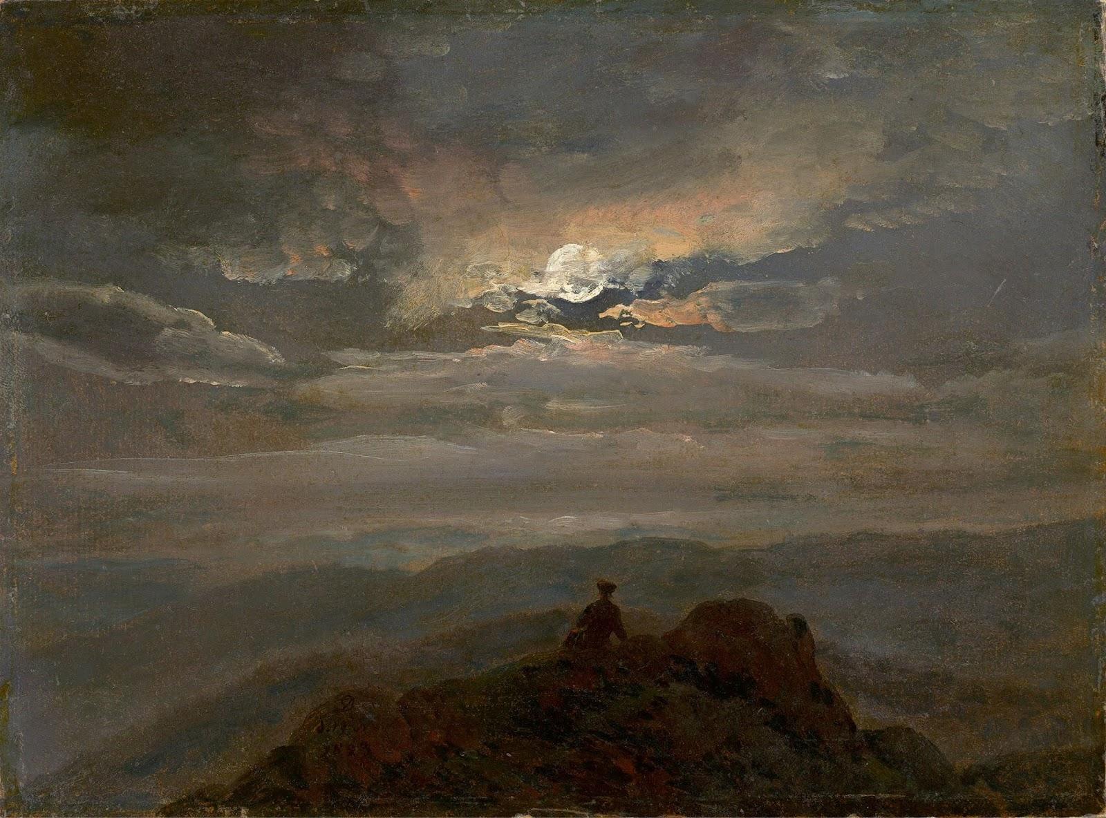 Johan Christian Clausen Dahl (1788 – 1857), Le Voyageur au Sommet de la  Montagne - 1823
