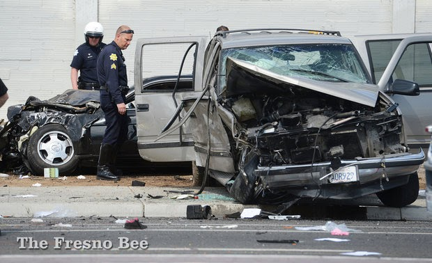 fresno suv car crash 8 children hurt ejected lexus suburban