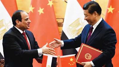 الرئيس عبد الفتاح السيسي ونظيره الصيني