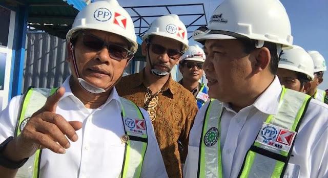 Tinjau Pembangunan Makassar New Port, Moeldoko Apresiasi Progres Kerja dan Efisiensi Biaya
