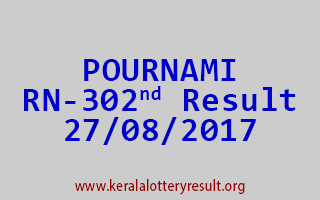 POURNAMI Lottery RN 302 Results 27-8-2017