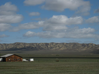 Open fields, distant hills near the Panoche Inn.