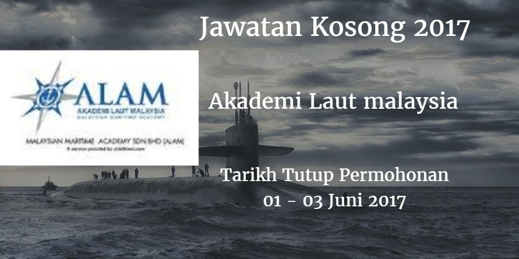Jawatan Kosong ALAM 01 - 03 Juni 2017