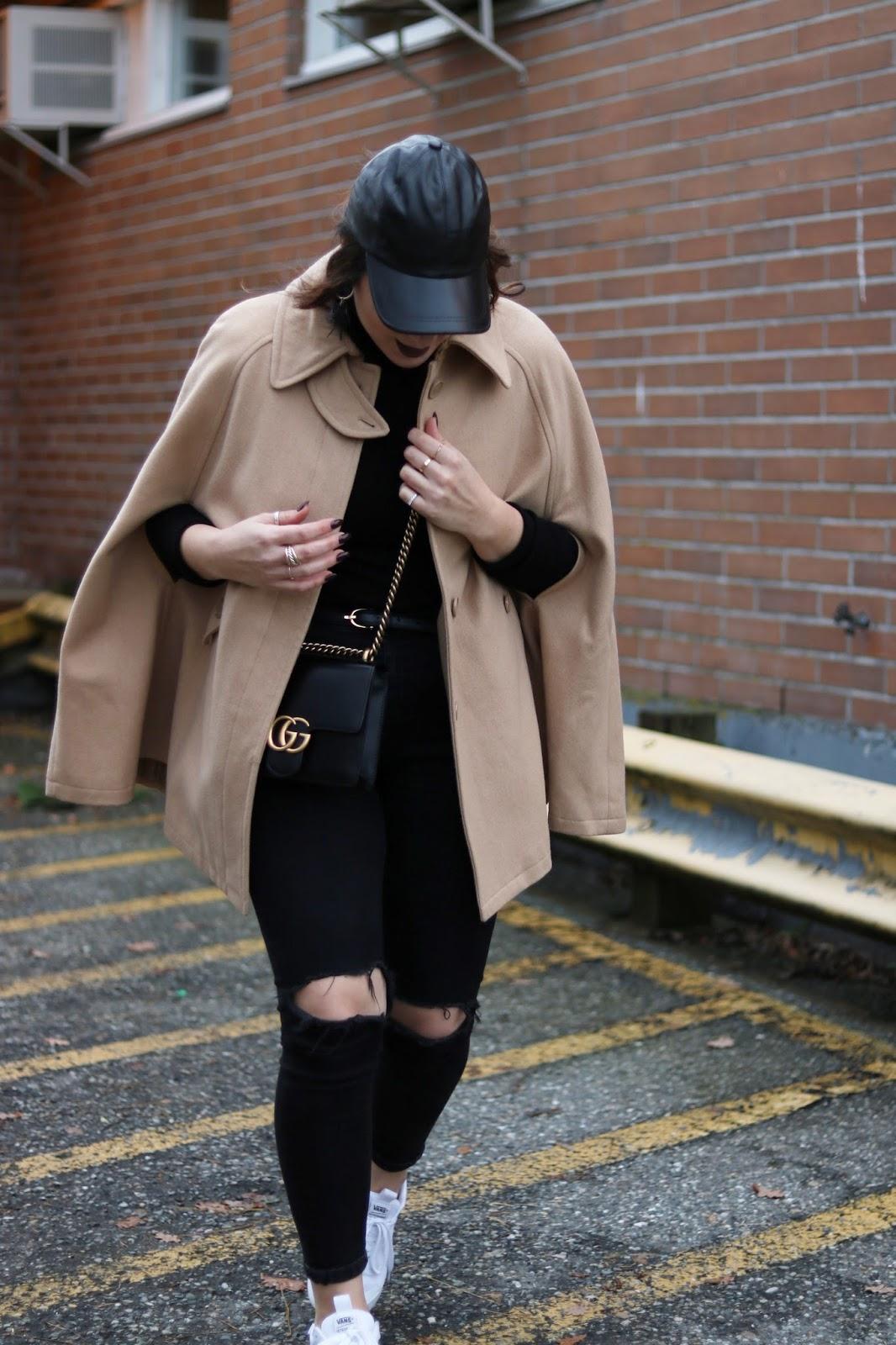 camel cape outfit topshop jamie jeans vans ultrarange vancouver fashion blogger 6