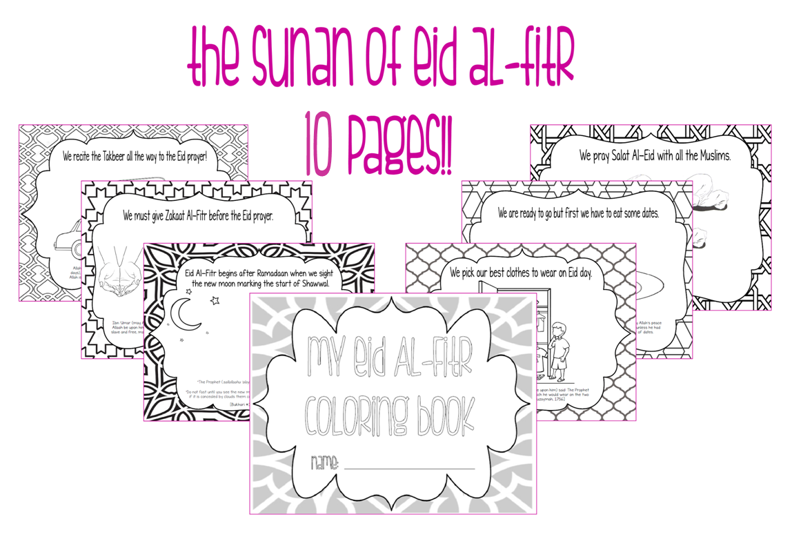 Our Precious Sprouts Homeschool Journal The Sunan Of Eid Al Fitr Coloring Book Free Printable