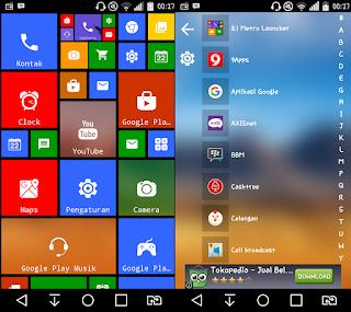 Cara merubah tampilan android menjadi windows 8 terbaru