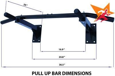 Xà đơn đa năng treo tường Wall Pull Up Bar P90X