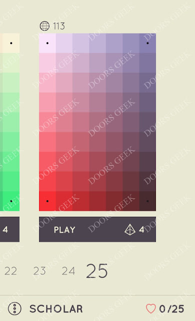 I Love Hue Scholar Level 25 Solution, Cheats, Walkthrough