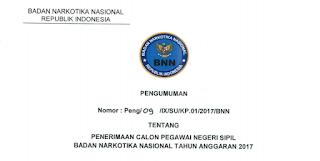 Penerimaan CPNS Terbaru Badan Narkotika Nasional