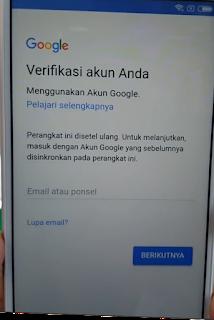Belum Masuk Untuk menggunakan ponsel ini, terlebih dahulu anda harus masuk ke Akun Google pemilik yang digunakan di ponsel ini saat terahir kali disetel ulang. Karena belum melakukannya