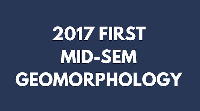 GEOMORPHOLOGY 1ST INTERNAL GEOGRAPHY 2017