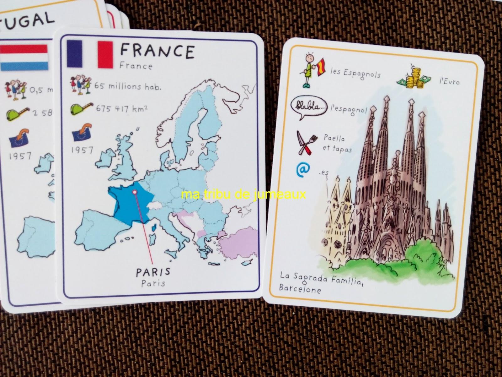 Carte De Leurope Jeux Educatifs.Ma Tribu De Jumeaux Des Jeux De Cartes Educatif Pour Les Enfants
