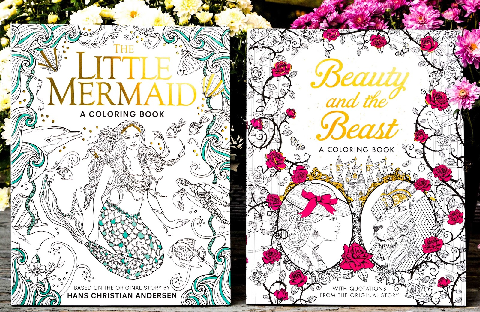 Adult Coloring Book Little Mermaid Beauty Beast