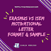 ERASMUS+ VS ISEM : MOTIVATIONAL LETTER (FORMAT AND SAMPLE)