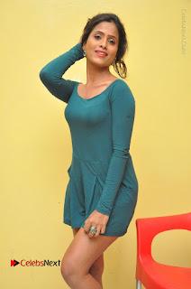 Telugu Actress Prasanthi Stills in Green Short Dress at Swachh Hyderabad Cricket Press Meet  0025.JPG