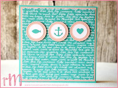 Stampin' Up! rosa Mädchen Kulmbach: Taufkarten Glaube Hoffnung Liebe mit Framelits Stickmuster, Clearlits Glückswal, Kreisstanze und Designerpapier