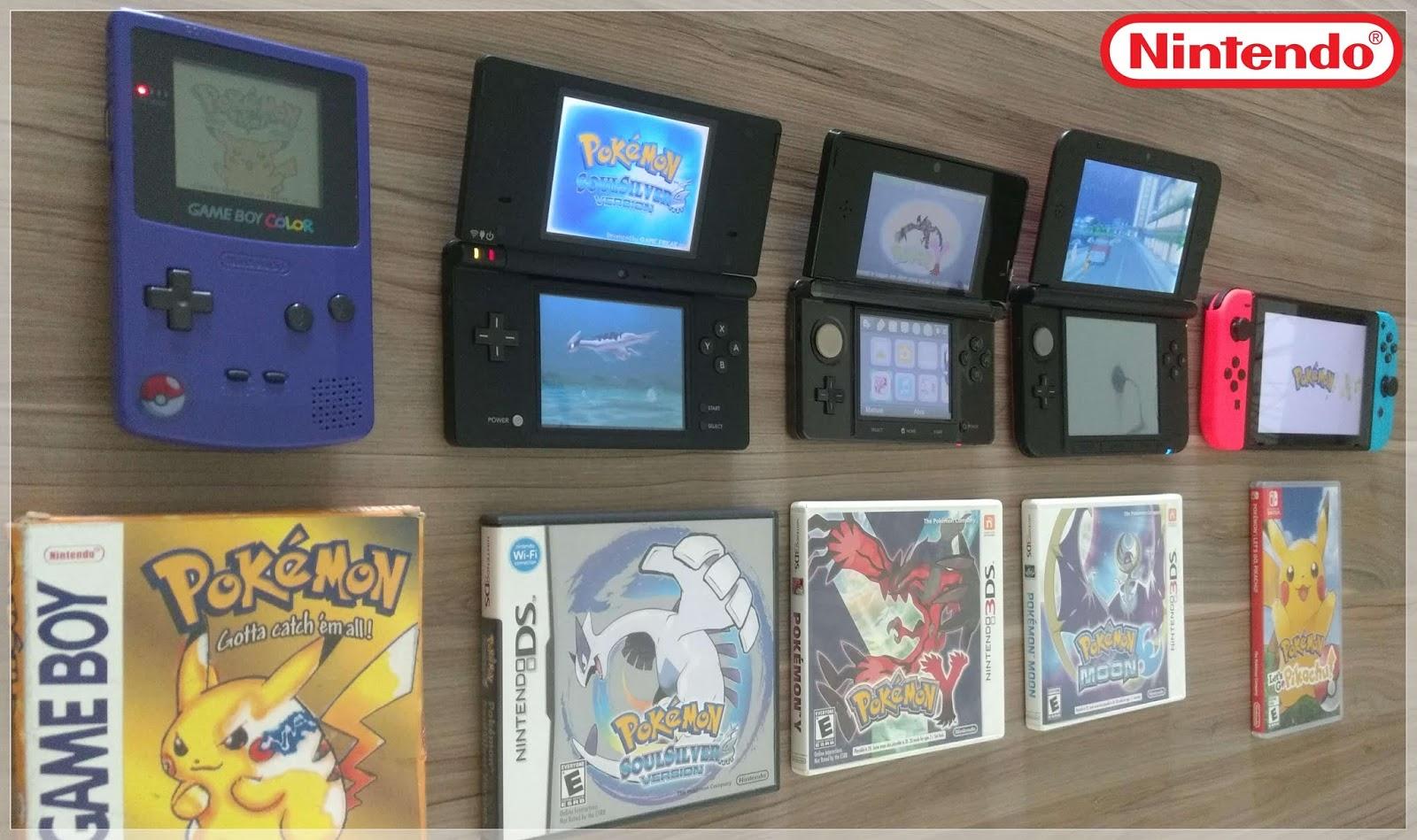 Meus consoles Nintendo! Do Game Boy Color ao Nintendo Switch (diferenças e  informações úteis) - Menininha é a Mãe