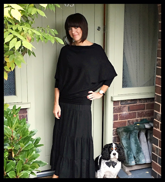 My Midlife Fashion, Batwing Jumper, Maxi Skirt, Zara, Marks and spencer