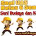 Latihan Soal UAS SBK Kelas 6 Semester 1 KTSP