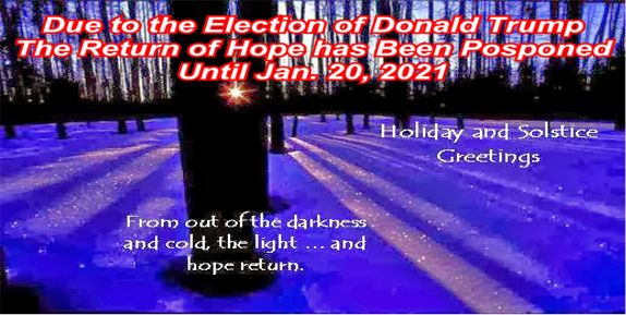Big education ape the election of donald trump the winter solstice the election of donald trump the winter solstice and the return of hope 2016 m4hsunfo