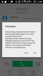 Kode rahasia di android