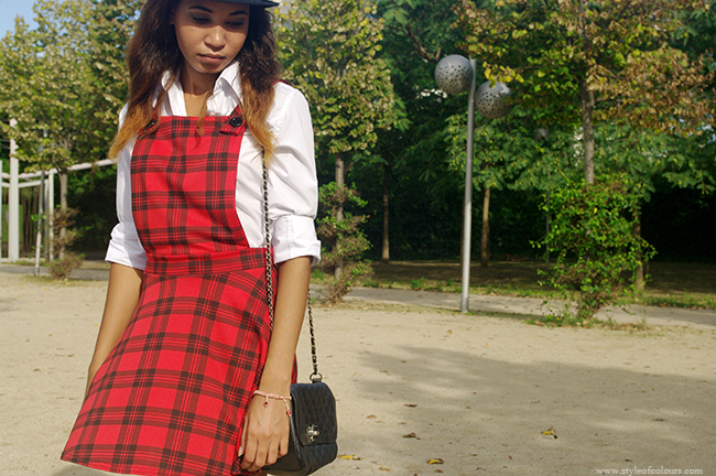 How to style a tartan pinafore
