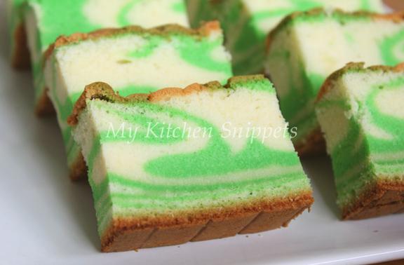 Colour Marble Cake Recipe